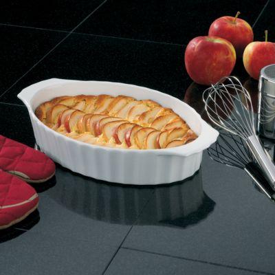 Apfelkuchen in der Auflaufform