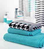 Handtuch-Baumwolle-blau