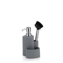 Organisateur d'évier distributeur savon/brosse