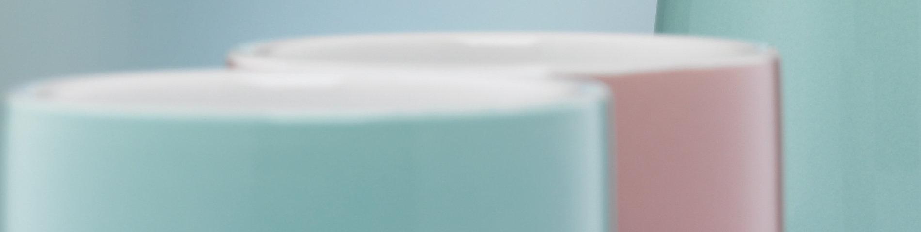 Bad-Accessoires Lindano übersichtlich aufgelistet, farblich zusammenpassend