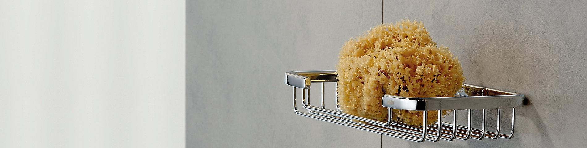 Duschvorhang, Duschablage und Duschregal für die Bad- und Duschausstattung