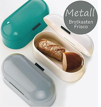 Brotaufbewahrung im Brotkasten Metall Frisco kela