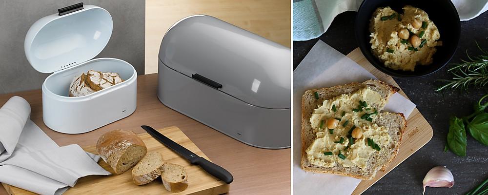 Brot aufbewahren Headerbild kela Brotkasten