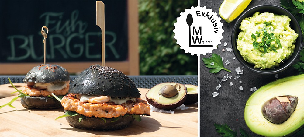 Seafood Burger und Avocado-Dip Header