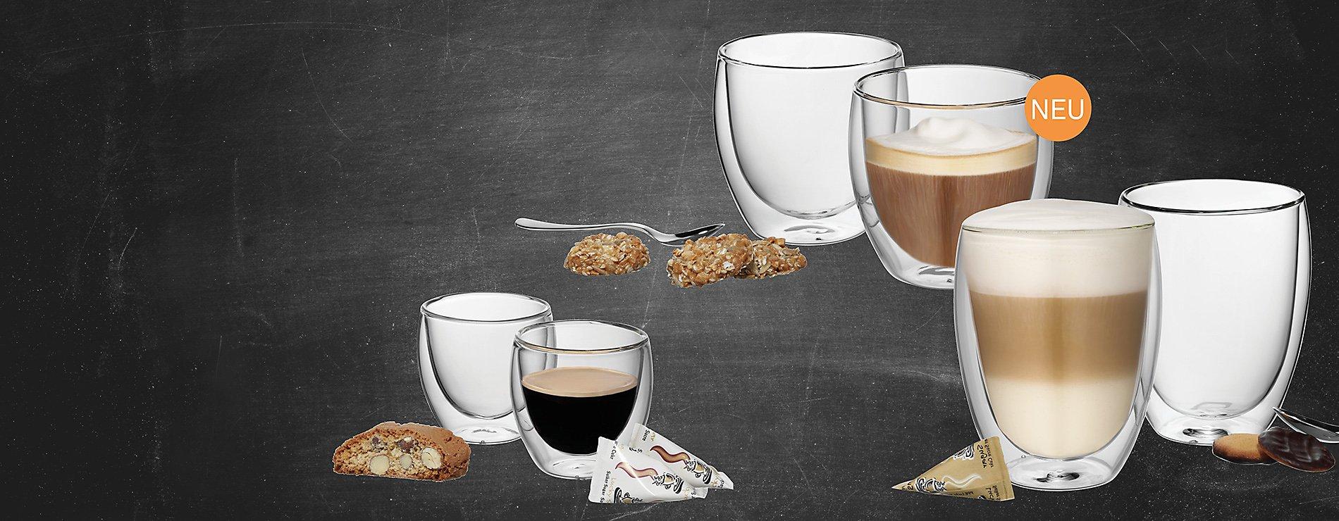Kaffeegläser doppelwandig