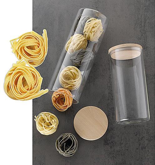 Vorratsdose Glas Bambus