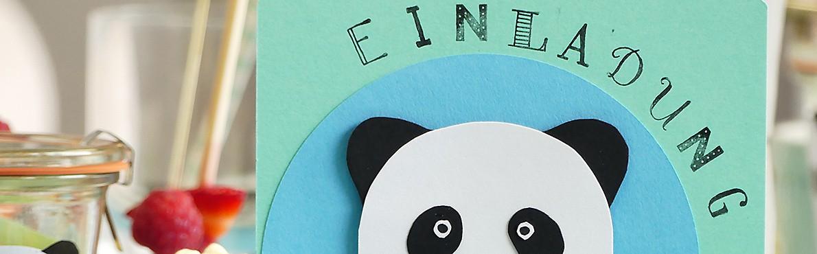 Einladung Kindergeburtstag Panda