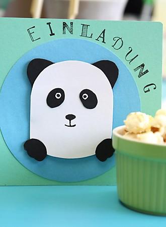 Einladungskarte Panda