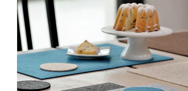 Tischsets und Glasuntersetzer aus Filz Alia kela
