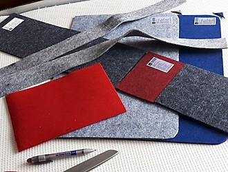 Filztaschen aus Tischsets nähen – Einzelteile für Tasche