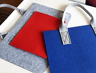 Filztaschen aus Tischsets nähen – Innentasche und Henkel