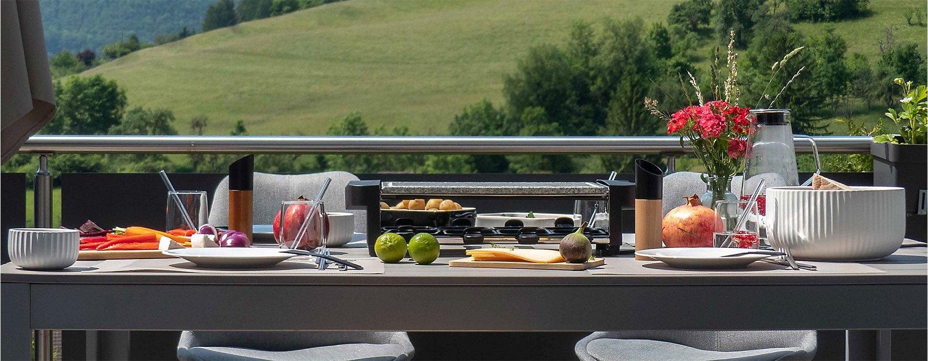 Raclette im Freien geniessen