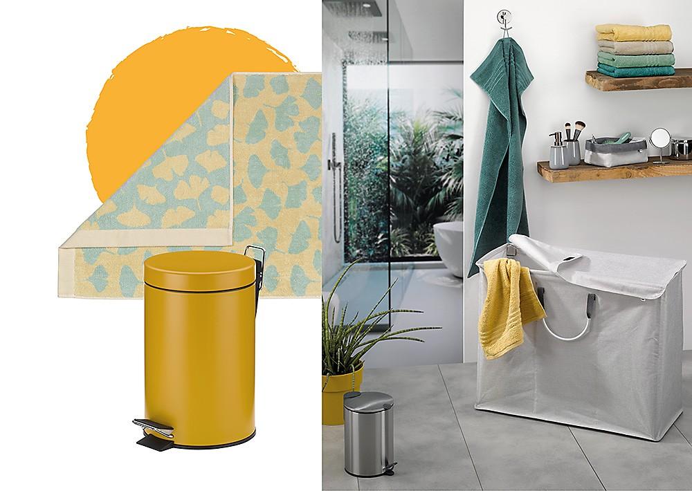 Gelb im Badezimmer