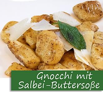 Rezeptbutton Gnocchi mit Salbeibutter