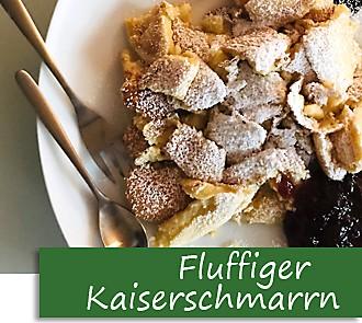 Rezeptbutton Fluffiger Kaiserschmarrn