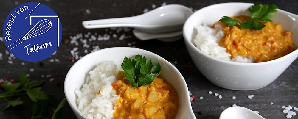 Rezept Kartoffelcurry Headerbild