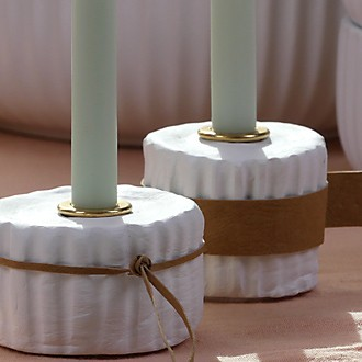 Kerzenständer selbst gemacht aus Modelliermasse DIY