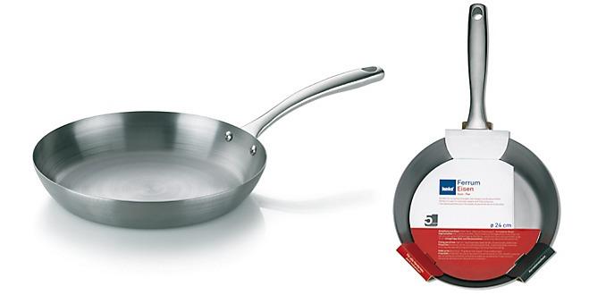Eisenpfanne Ferrum kela Durchmesser 24 cm und 28 cm