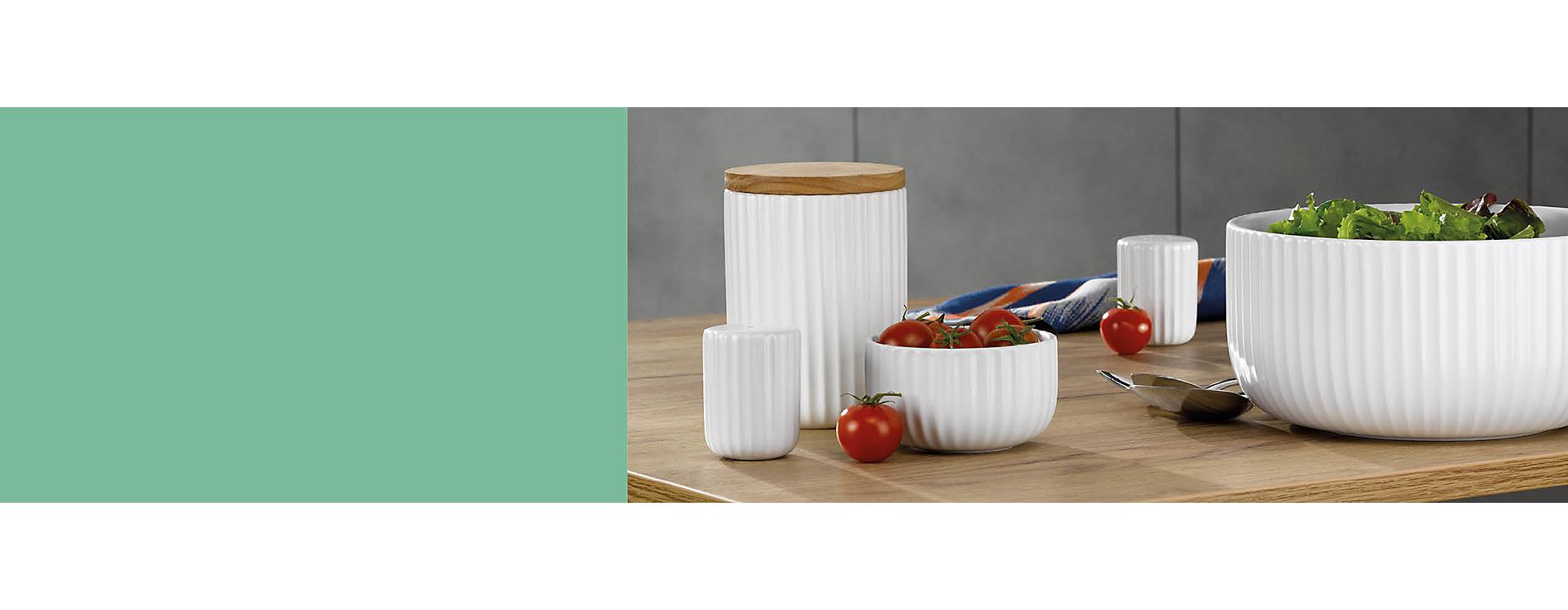 Keramikaccessoires in schönem Weiß