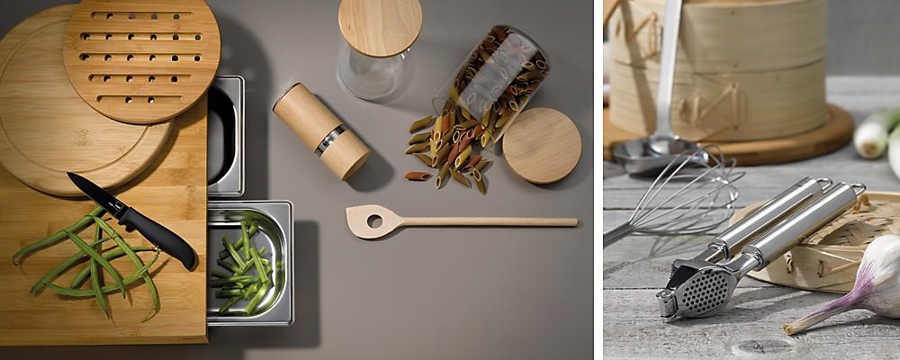 Küchenhelfer aus Holz und Küchenhelfer der Serie Rondo von kela
