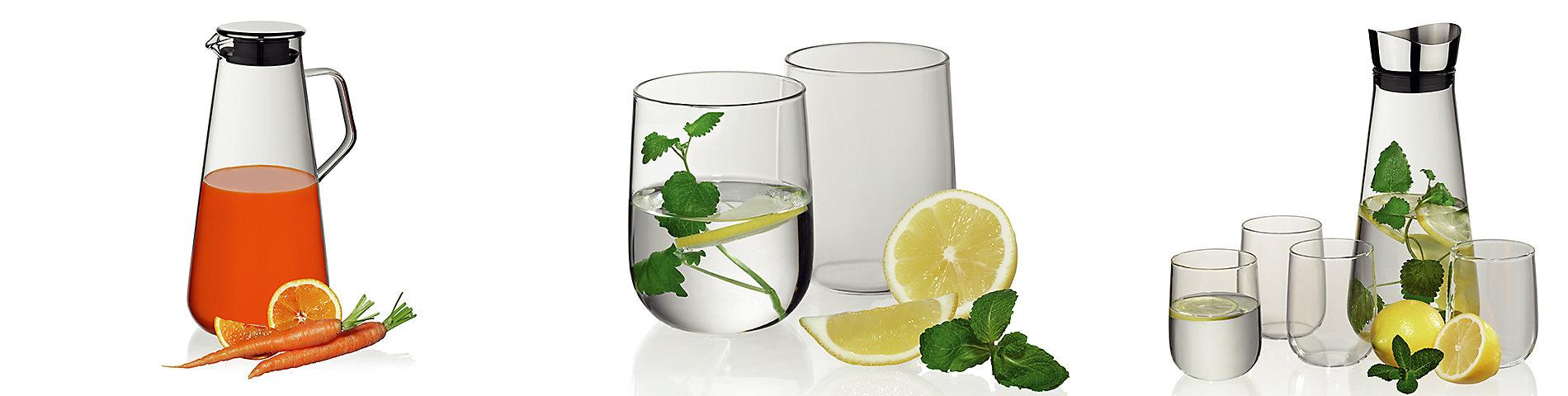 Wasserkaraffe aus Glas zum Servieren