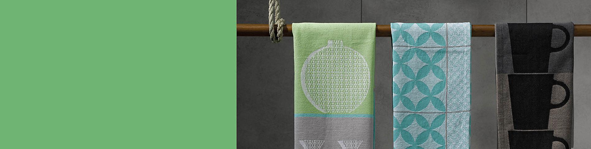 Küchentextilien Carla aus 100% Baumwolle - farblich aufeinander abgestimmt