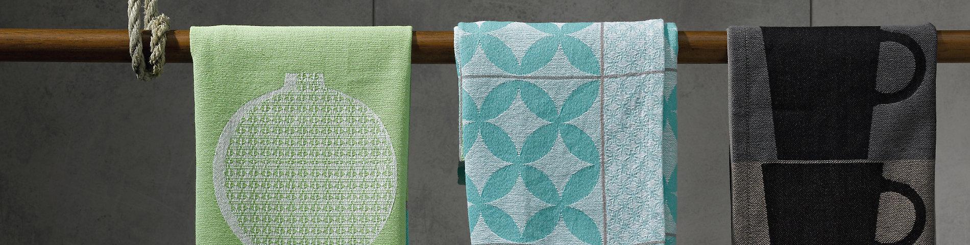 Küchentextilien aus 100% Baumwolle in verschiedenen Designs