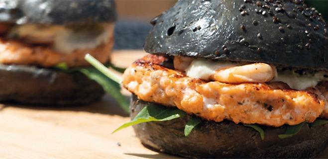 Schwarze Hamburgerbrötchen Zutaten Rezept