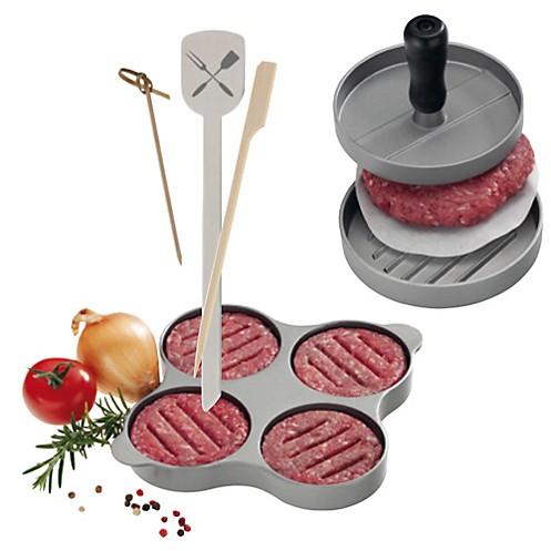 Hamburgerpresse und Hamburger-Spieße