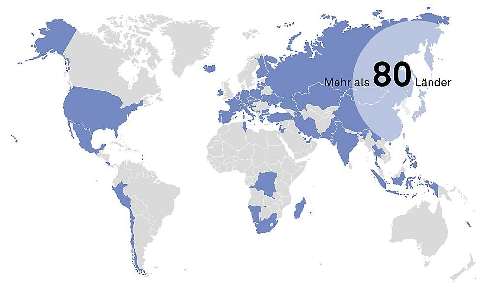 Kela-Produkte weltweit