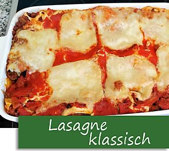 Rezeptbutton Lasagne klassisch