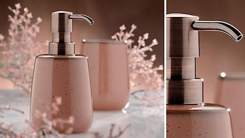 Seifenspender Dusche oder Badewanne: Seifenspender Liana in Rosa kela