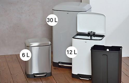 große Mülleimer in verschiedenen Größen: großer Mülleimer Davino von kela