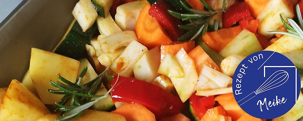 Kartoffeln mit Gemüse im Ofen Headerbild