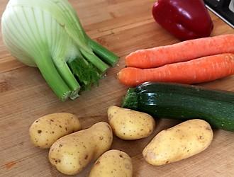 Gemüse mit Kartoffeln - Zutaten