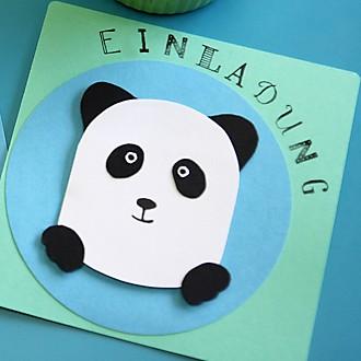 Einladungskarte Panda Teaserbild