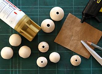 Osterhasen aus Holzperlen Material