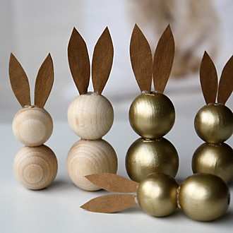 Osterhasen aus Holzperlen Teaser