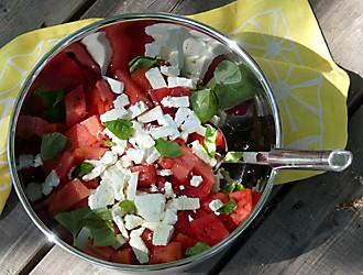 Wassermelonensalat Picknick