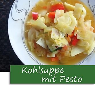 Rezeptbutton Kohlsuppe mit Pesto