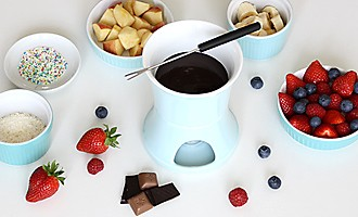 Ingredients for chocolate fondue