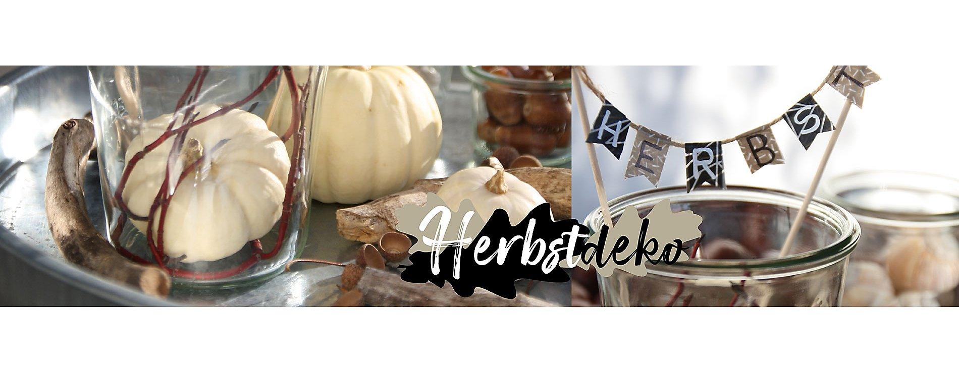 Weck Glaeser Herbstlich dekoriert
