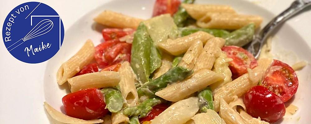 Spargel-Tomaten-Nudeln Headerbild