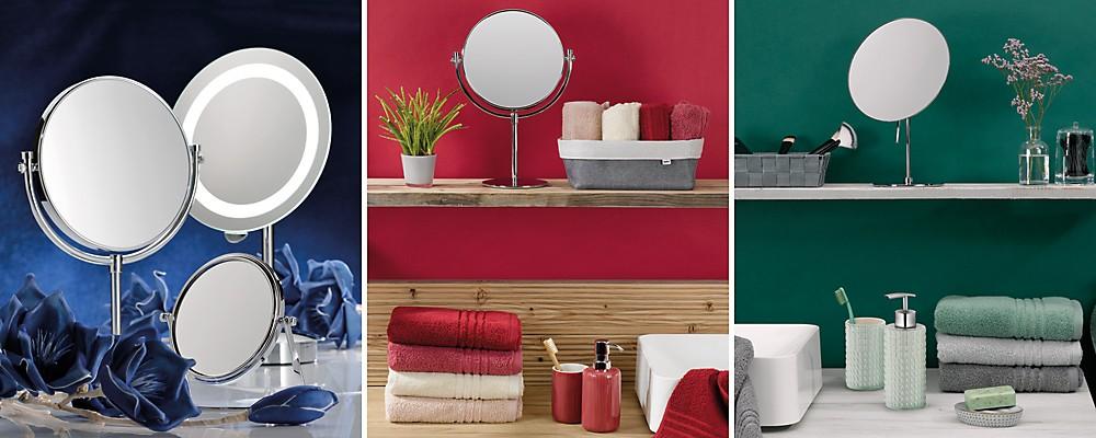 Kosmetik Spiegel von kela: mit Beleuchtung, zur Wandbefestigung, verschiedene Vergrößerungen