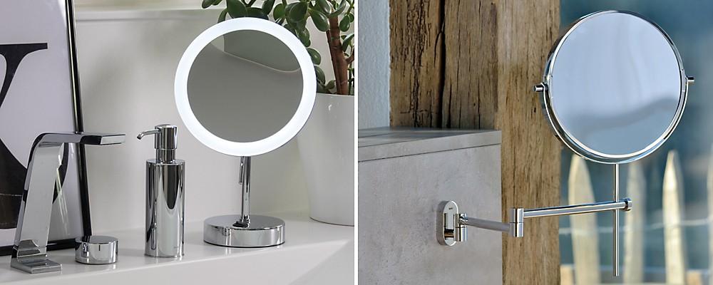 Spiegel im Bad: beleuchtet oder schwenkbar