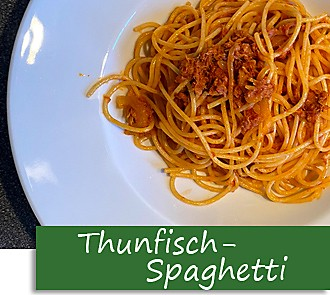 Rezeptbutton Spaghetti mit Thunfischsauce