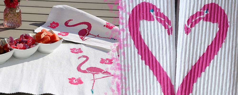 Tischset Flamingo zum Selbermachen Header