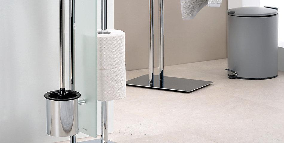 Toilettengarnituren | aus Edelstahl, in weiß, schwarz, aus verschiedenen Materialien erhältlich bei kela