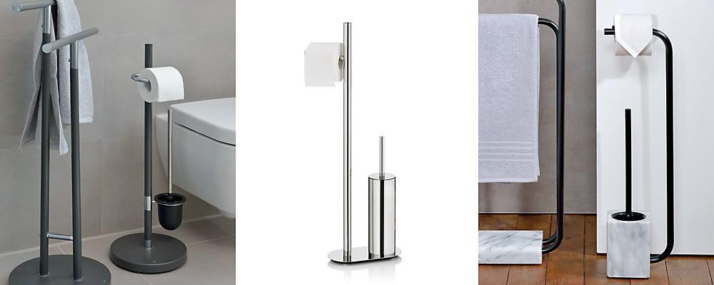 Toilettengarnituren: Standgarnituren aus unterschiedlichen Materialien
