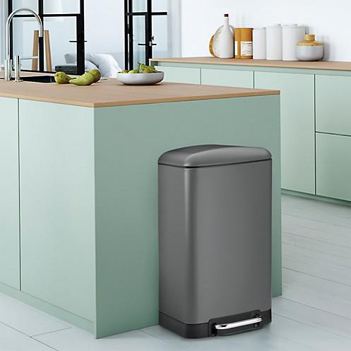 Treteimer Küche: Davino in Grau mit 30 Liter Volumen